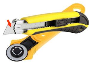 Строительный нож и резак для работы с кожей