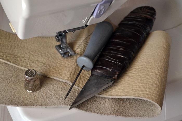 Как уговорить машинку шить кожу Ярмарка Мастеров 61
