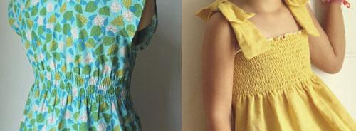 Платье в сборку на резинке