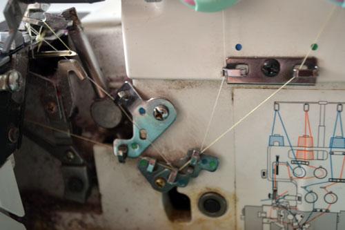 схема заправки ниток.