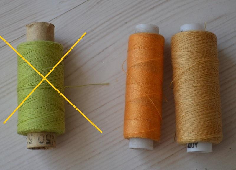 Некачественная нитка - причина обрыва нижней нитки