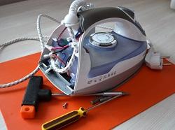 Разборка и ремонт парового утюга
