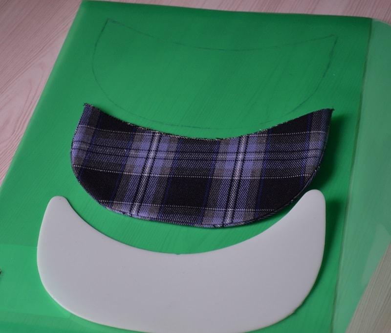 Как сделать козырек кепки из пластиковой папки