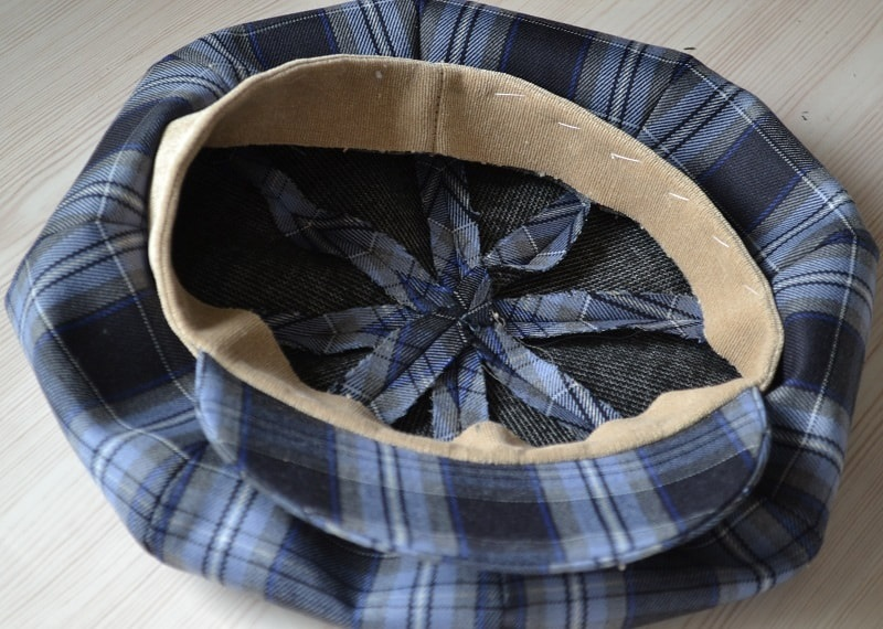 Как присоединить подкладку к кепке