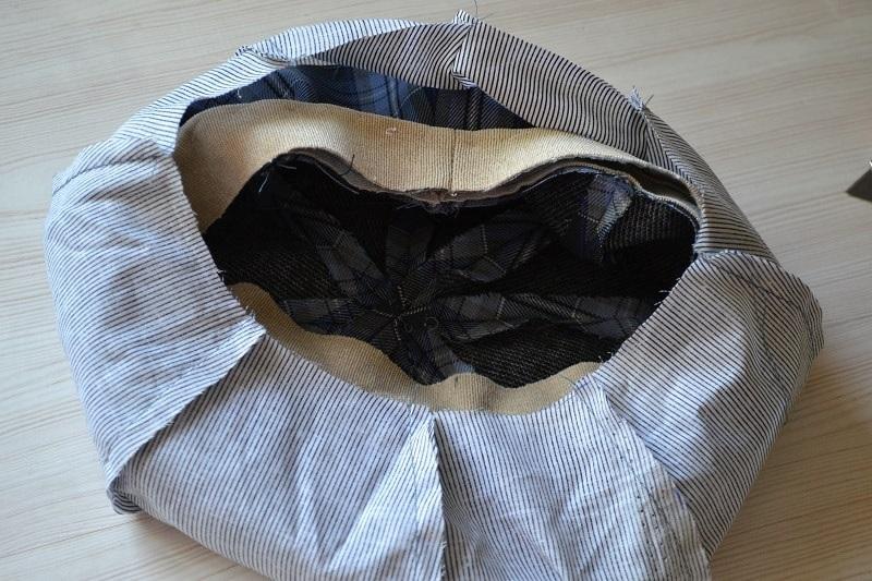 Части подкладки кепки восьмиклинки