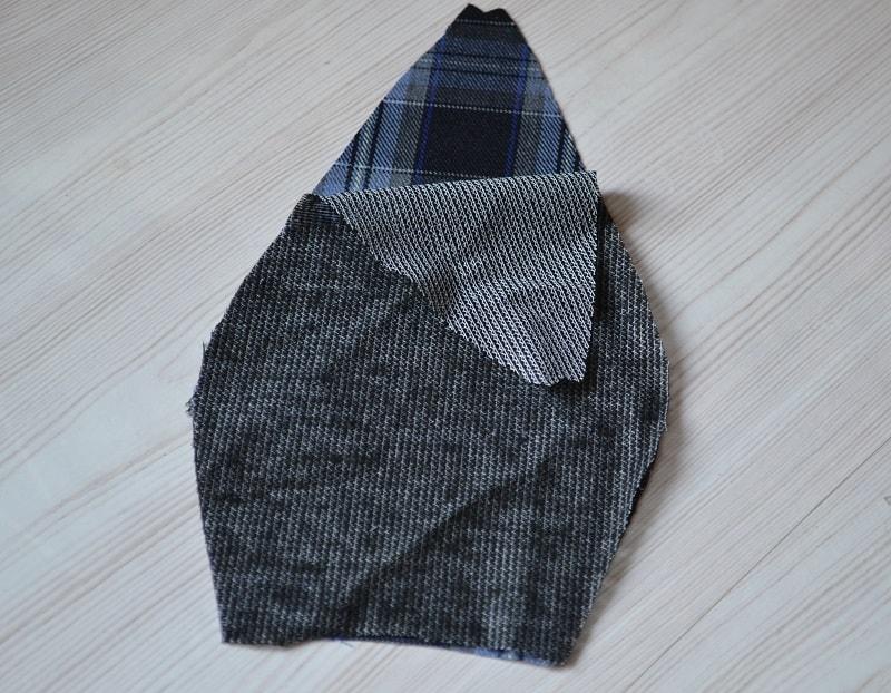 Срезанные верхние уголки клиньев кепки