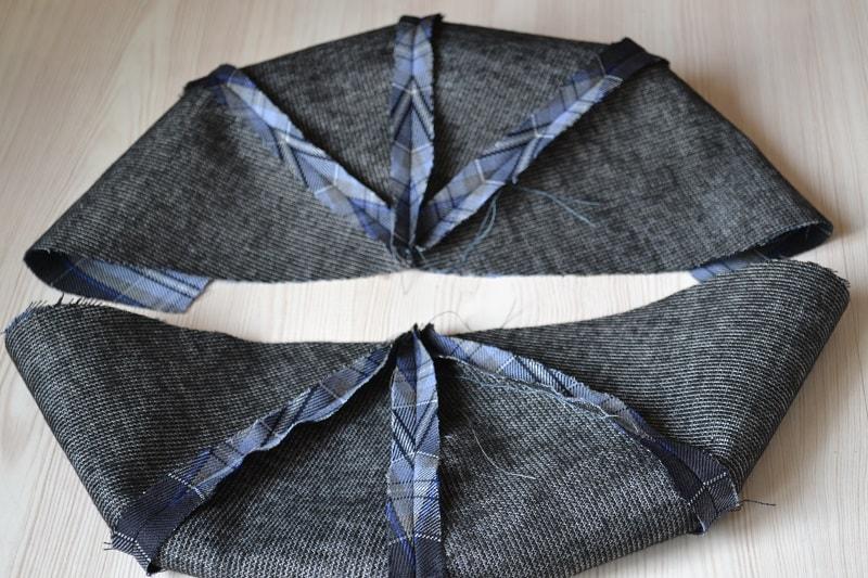 Две половинки кепки из четырех деталей