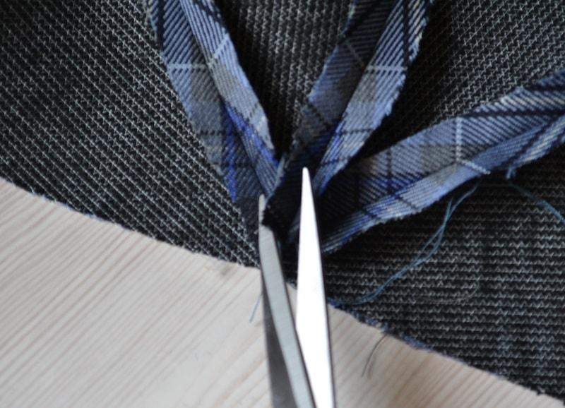 Как срезать уголки припусков клиньев в верхней части