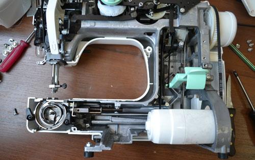 Ремонт швейных машинок своими руками джаноме