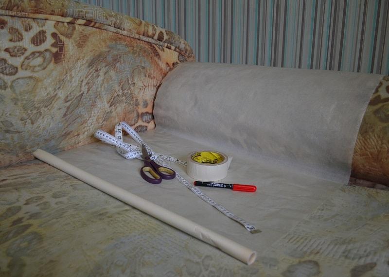Как сделать выкройку чехла на диван