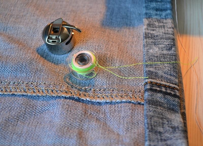 Подгибка низа джинсовых шорт