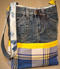 Сумки из старых джинсов