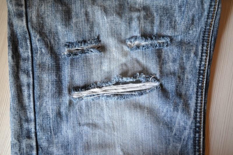 Заплатки на рваные участки джинсов