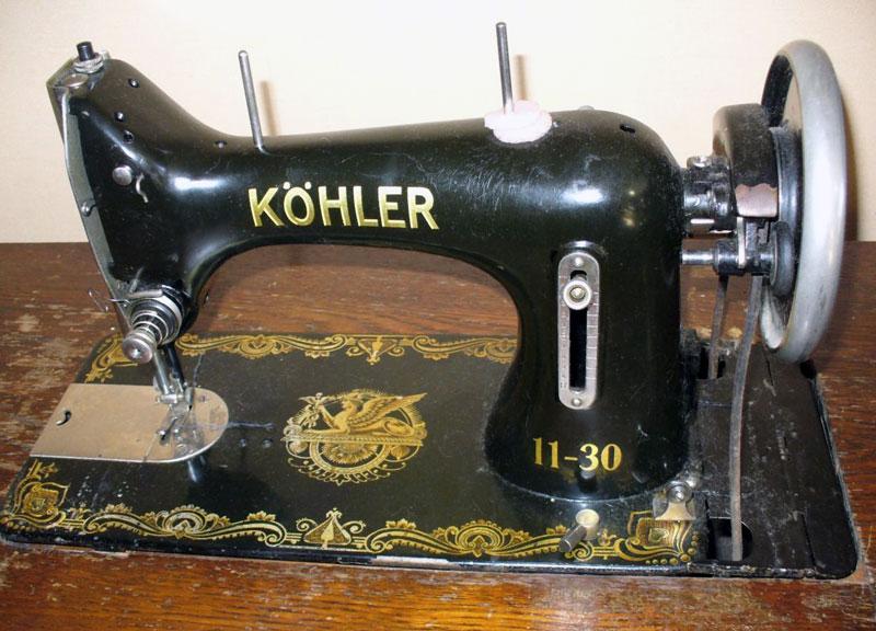 Старые модели швейных машинок - Kohler