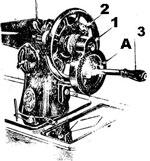 Работа на ручной машинке ПМЗ