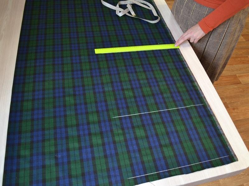 Как правильно раскладывать и кроить ткань
