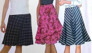 Сшить юбка полусолнце с поясом