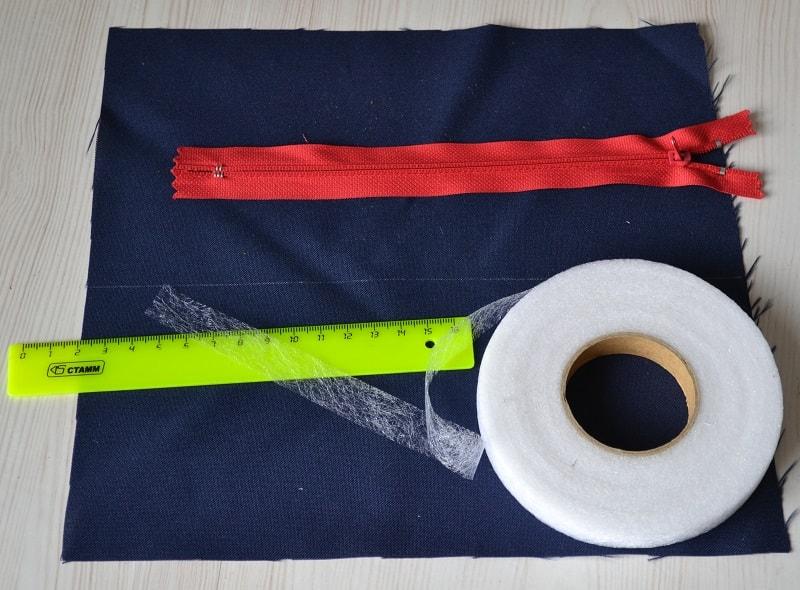 Обработка срезов ткани перед притачиванием молнии