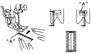 изготовление петли на швейной машине