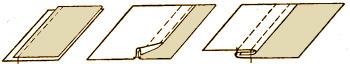 Обработка постельного белья бельевым швом