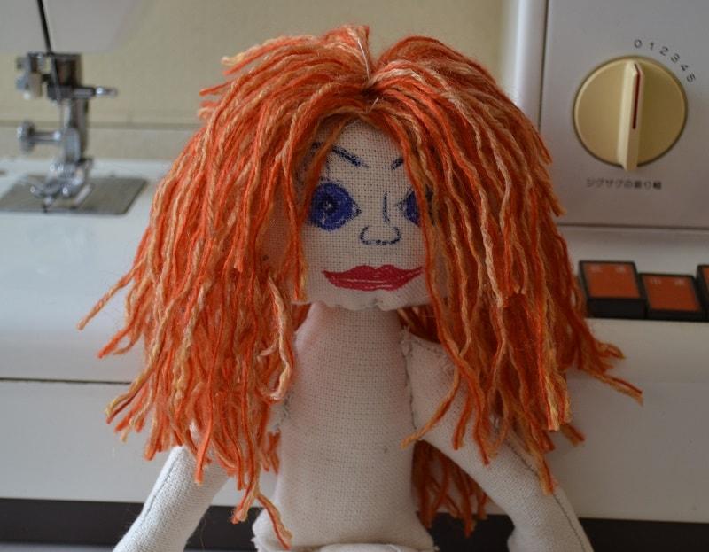 Голова куклы тильда полностью оформлена