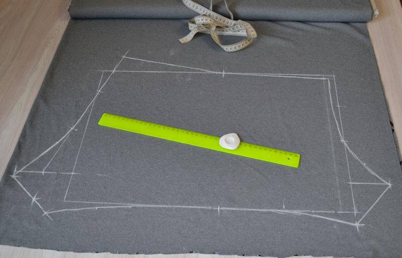 Построение выкройки трусов на ткани